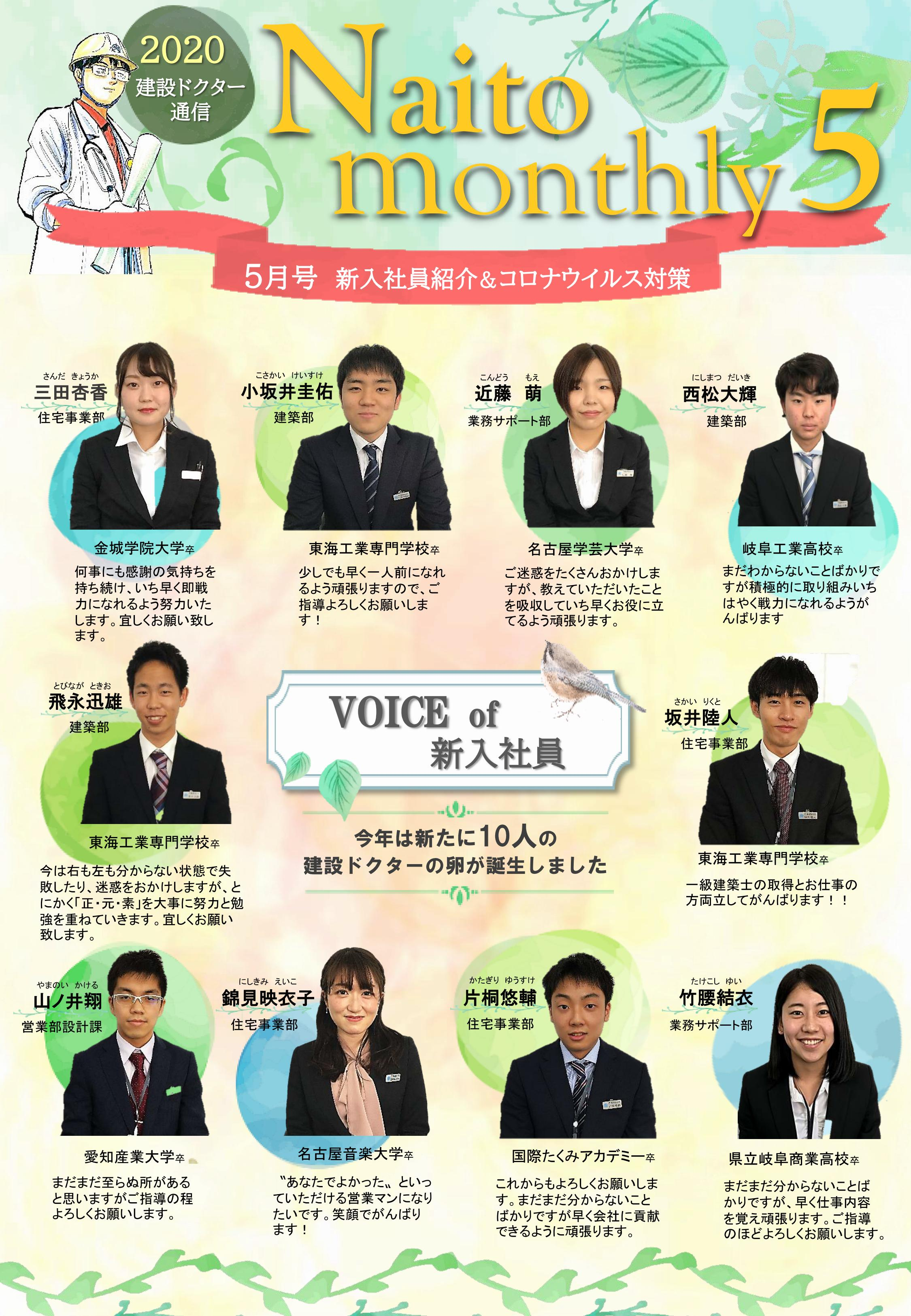 2020年5月報(Naito Monthly)